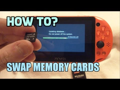 Swapping memory cards on the ps vita