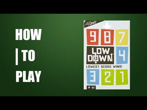 How to play lowdown card game (makers of uno)