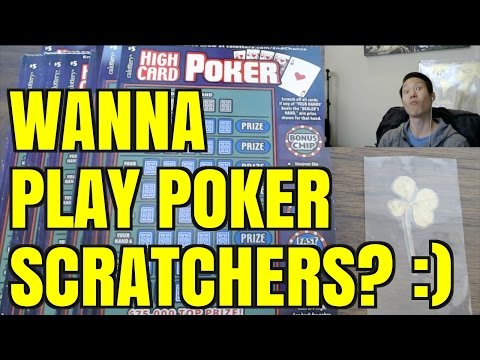 Let's play some poker scratchers!!! high card poker $5 california lottery scratcher