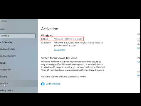How to switch out of s mode in windows 10