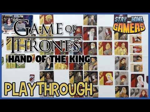 Game of thrones: hand of the king card game playthrough [2 players]