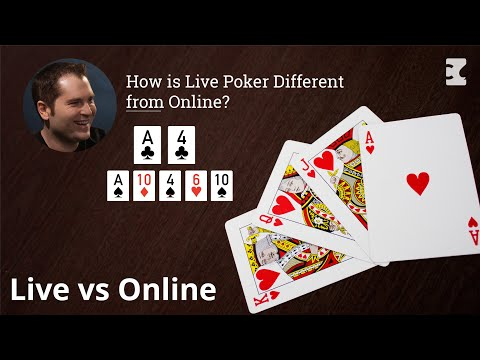 How is live poker different from online?
