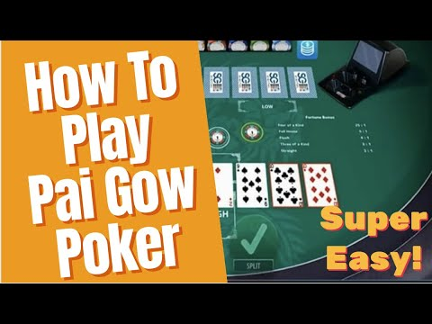 How to play pai gow poker - super easy
