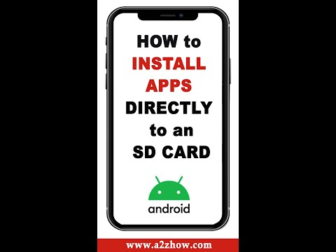 How to install apps directly to sd card from play store #shorts