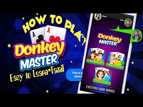 How to play donkey master easy to learn tamil