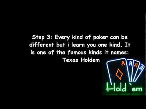 How to play poker texas holdem!