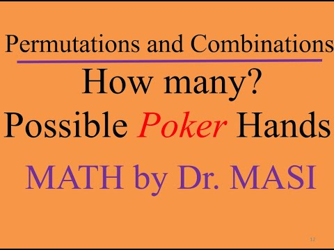 How many poker hands possible?