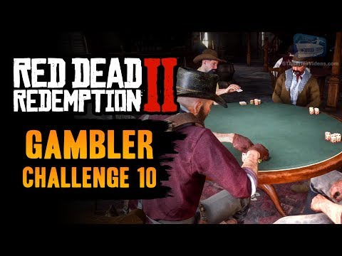 Red dead redemption 2 gambler challenge #10 guide - win 3 hands of poker in a row