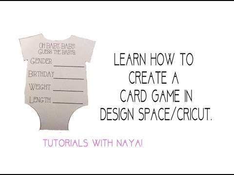 How to create card game in design space/cricut. easy steps