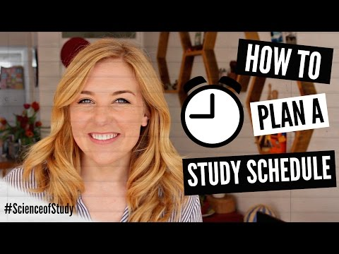 How to plan your ideal study schedule!   science of study #3   maddie moate