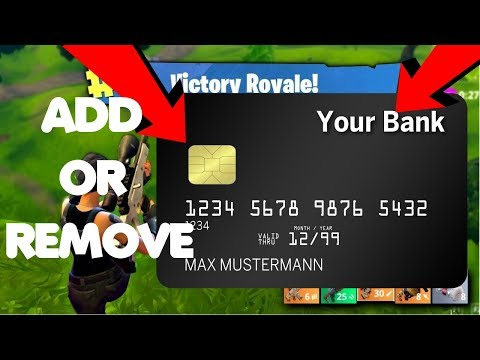 How to add/remove fortnite battle royale credit/debit cards! payment method! updated!