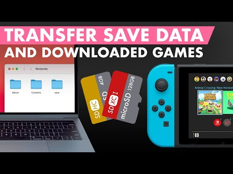 Save data transfer to new microsd card (digital games too) - nintendo switch