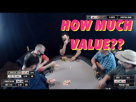 Poker time cash game: how much money can he get with pocket queens?