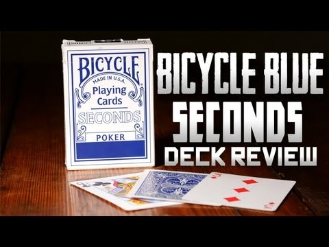 Deck review - bicycle seconds deck blue poker playing cards