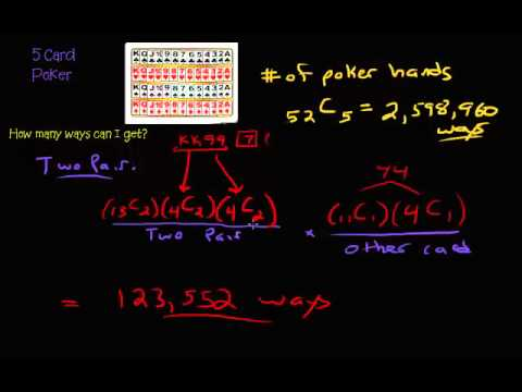Permutations and combinations - 5 card poker hands