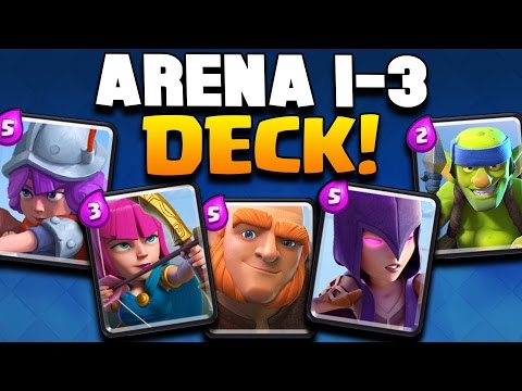 """Clash royale """"win every time!"""" arena 1,2,3 deck strategy! best level 1-6 cards! (pro/beginner tips)"""