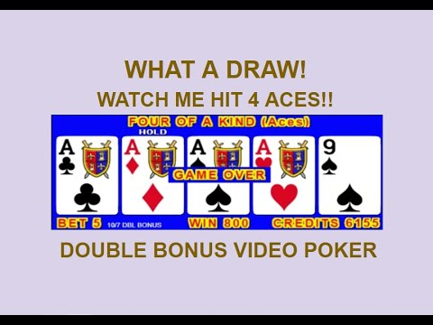 This draw will blow your mind! 1000 hands condensed! 10/7 double bonus video poker tutorial: ep 11