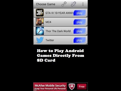 How to play android games directly from sd card