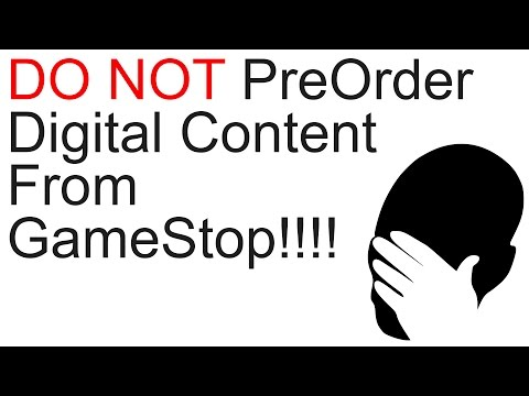 Do not pre-order/order digital content from gamestop!!!
