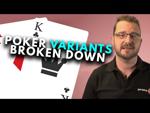 Different poker games explained (hold'em, omaha, stud, draw)