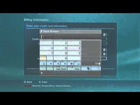 Tutorial - howto add funds to psn via credit / debit card - voice over