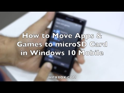 How to move apps & games to sd card in windows 10 mobile