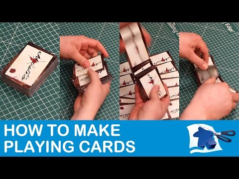 How to make playing cards - dining table print & play