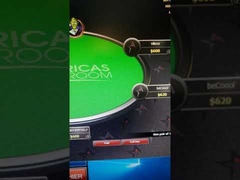 Americas cardroom online poker cheating bots new video!! flopped top set bot gets runners for flush