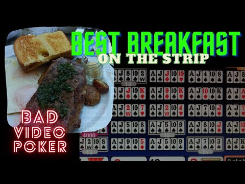 My favorite breakfast on the strip, bad video poker, at mgm las vegas and you don't need no masks!