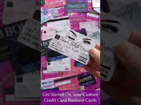 Plastic credit card business cards by shaynamade