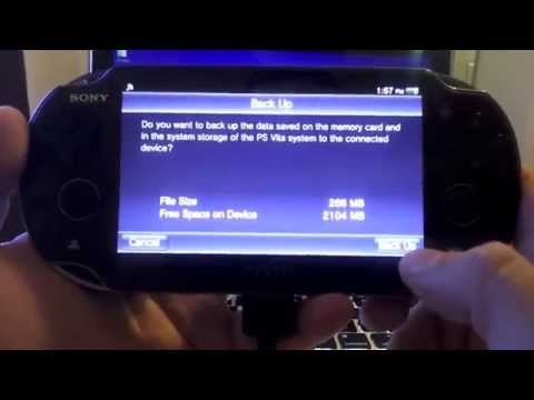 Ps vita content manager pc features & backup