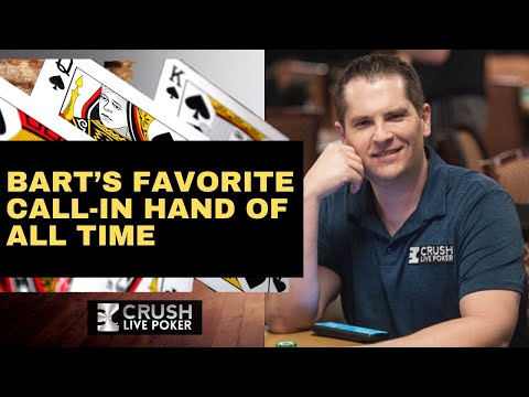Learn poker and hand reading logic; the best call-in of all time