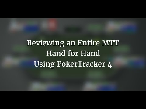 Reviewing a complete tournament in pokertracker 4