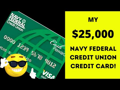 My new $25,000 navy federal credit card and how you can get one with a high credit limit!