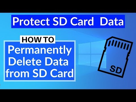 How to permanently delete data from sd card | prevent data from being recovered