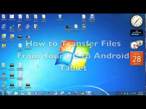 How to transfer files from pc to android tablet | h2techvideos