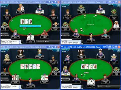 No limit hold'em poker tournament video - learning to multi-table small stakes sngs