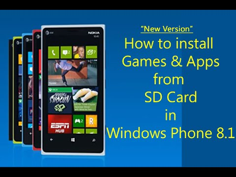 How to install games from sd card in windows phone 8.1 for nokia lumia, htc phones?