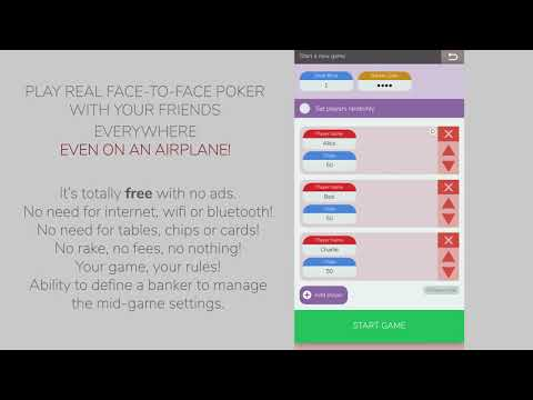 Poker round: a turn-based local-multiplayer free poker game