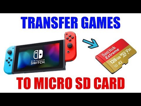 How to transfer nintendo switch games to a mirco sd card [ step by step tutorial ]