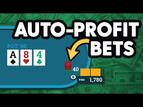 What are auto-profit bets in poker? ( examples) | splitsuit