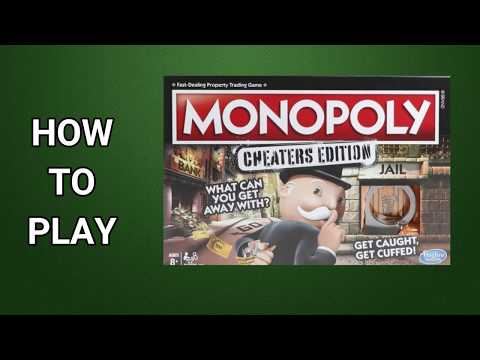How to play monopoly cheaters edition board game by hasbro