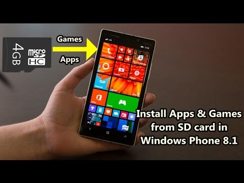 How to install apps and games from sd card in windows phone 8.1 ?