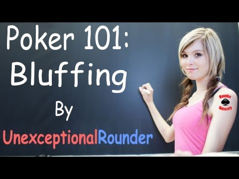 How to bluff in poker - texas holdem poker strategy - bluffing lesson