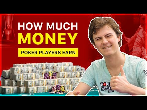 How much money poker players earn