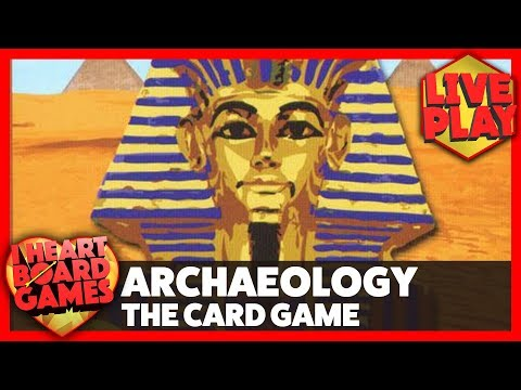 Archaeology the card game (2 players) - i heart board games - live stream