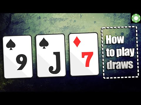 How to play draws in poker - a little coffee with jonathan little