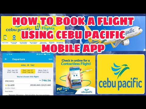 How to book a flight via cebu pacific mobile app  promo fare online booking using debit card payment