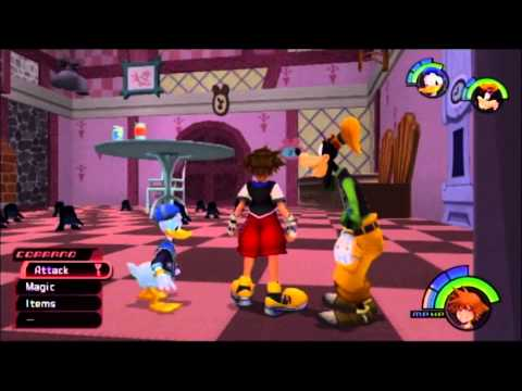 Kingdom hearts fm [ps3] commentary #017, wonderland (1/3): queen of hearts & card soldiers