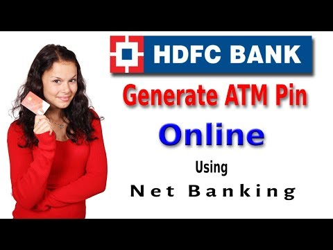 How to active & generated debit/credit card pin online    hdfc bank net banking